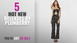 Hot New Plumberry Women Clothing [2018]: Plumberry Jumpsuits For Women Cute Cropped Leg and A Center
