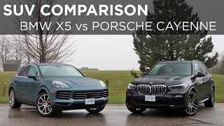 2019 BMW X5 vs 2019 Porsche Cayenne | SUV Comparison | Driving.ca