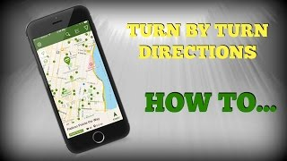 How to use turn-by-turn directions on Geocaching Classic app