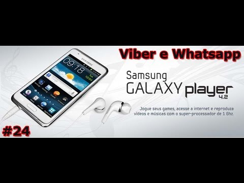 Samsung Galaxy Player 4.2 YP-GI1 Review - Viber e Whatsapp - PT-BR