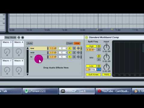 Making Multiband (3band) processing rack preset in Ableton