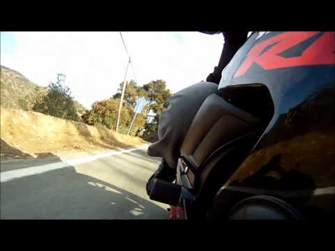 Yamaha YZF R6 Sportbike Motorcycle Ride Going Down TurnBull Canyons. OnBoard GoPro 960 HD