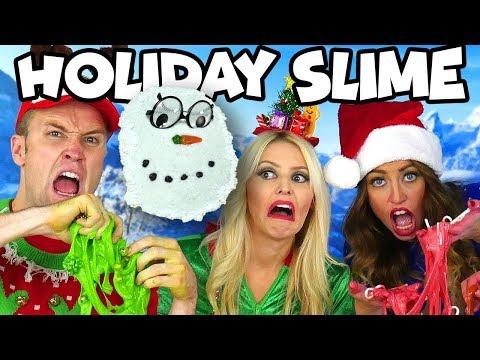 Holiday Slime DIY Christmas Slime Challenge. Totally TV