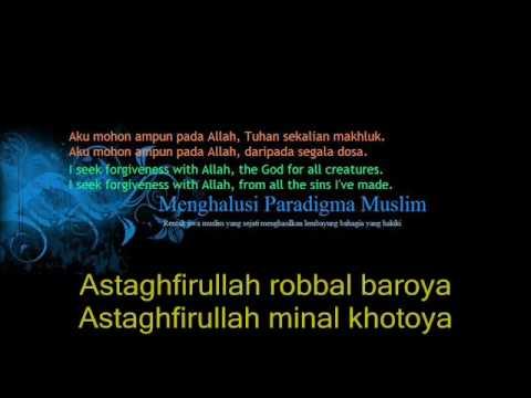 Taubatan Nasuha (Qasidah Istighfar) Rumi/ Arabic-Western lyrics.