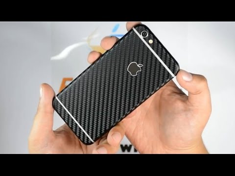 First in the world - iPhone 6 CARBON Fibre Skin / Wrap by EasySkinz