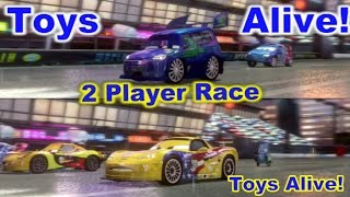 Cars 2: The video game - 2 player splitscreen Race on Imperial Tour