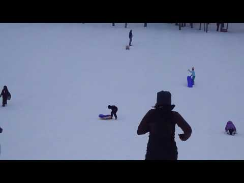 Snow Tubing Wipeout - Sledding - Mt. Bachelor Ski Area - Bend, OR