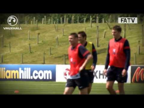 Stunning goals as Rooney, Hart, Lampard, Cole and the England team train ahead of Ireland game