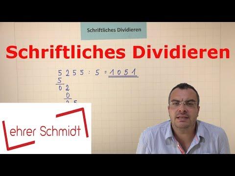 Schriftliches Dividieren - EINFACH ERKLÄRT   Mathematik     Lehrerschmidt - einfach erklärt!