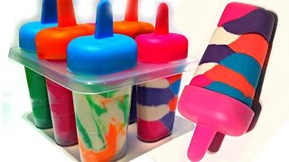 Play Doh Ice Cream Popsicles with Molds - Playdough For Children