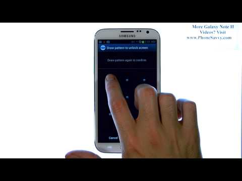 Samsung Galaxy Note II - How Do I Setup Password Pin Pattern or Face Unlock