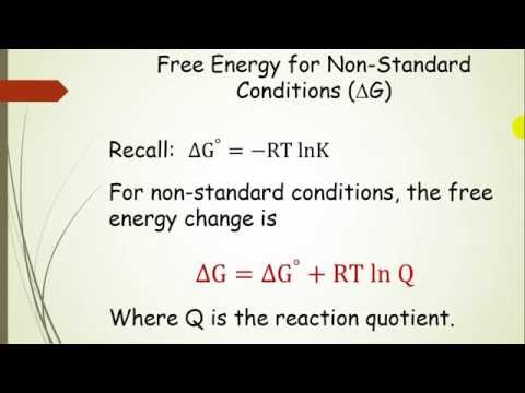 Free Energy (delta G) And Equilibrium (Pt 8)