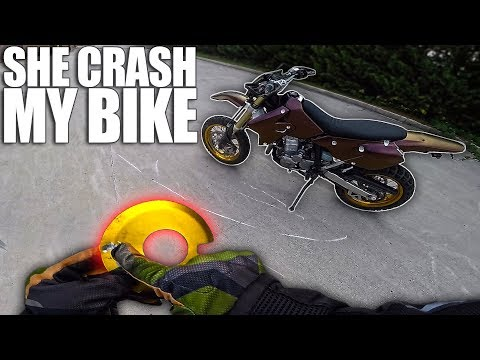 Laura CRASHED My Motorcycle