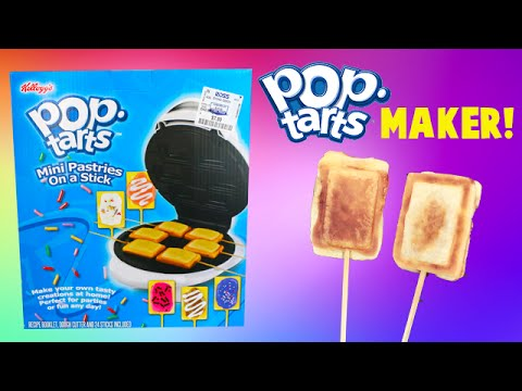 Pop Tarts Food Maker- I Make Mini Pop Tarts On A Stick