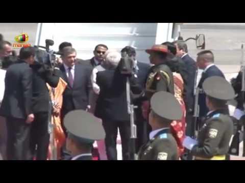 PM Modi Arrives in Tashkent | Uzbekistan | Mission Central Asia