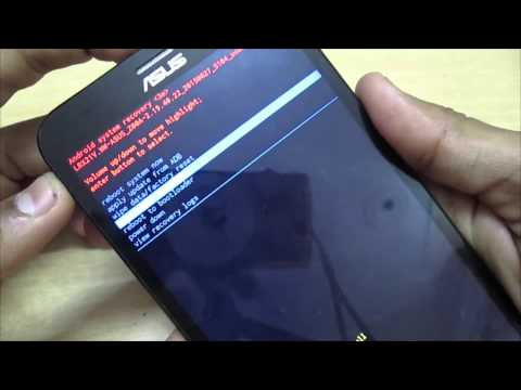 How to Open Asus Zenfone 2 Recovery Mod & Wipe Data/Factory Reset or Cache Partion