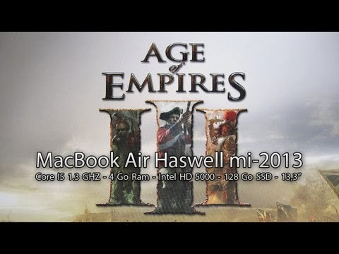 Test de performance - Age of Empires III - MacBook Air Haswell Core I5 1,3Ghz