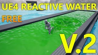 FREE Unreal Engine 4 Reactive Dynamic Water V.2 Project Download Update [UE4.20]