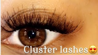 HOW TO | CLUSTER EYELASHES EXTENSIONS | LASHES IN 10 MINUTES