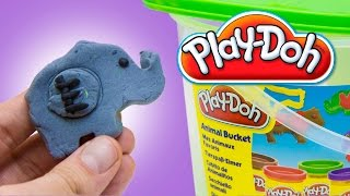 Play Doh Animal Bucket Play Doh Farm Dough Set Animales de Plastilina by Unboxingsurpriseegg
