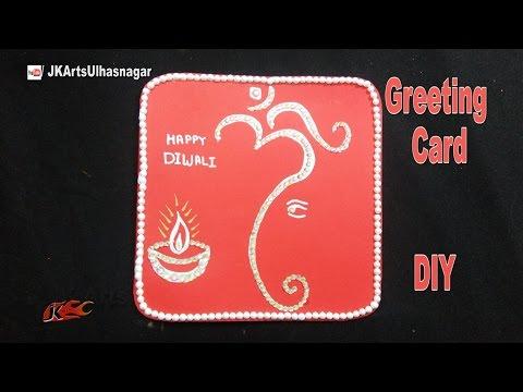 Diwali Greeting Card  | DIY How to make Window Card | JK Arts 1084
