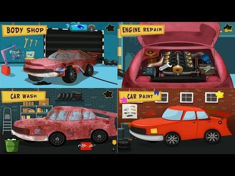 Kids Garage Car Repair and Driving for Kids - Cars Factory School Bus - Best Game App for Kids