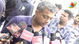 Gautham Menon At director's union fasting for Tamil Eelam
