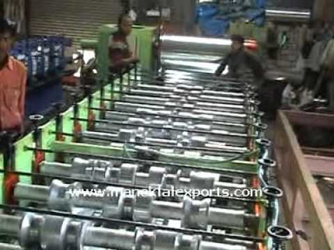 Manek Roll Forming Machine To Make Ibr Corrugated Sheets