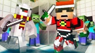 WAVES OF ZOMBIE DOOM! | Minecraft Mini-Game TETRA Z! /w Facecam