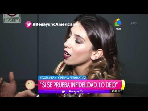 Cinthia Fernández: Si se prueba infidelidad, lo dejo
