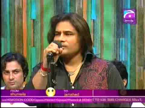 Shafqat Amanat Ali Khan singing in Brunch with Bushra live Music...
