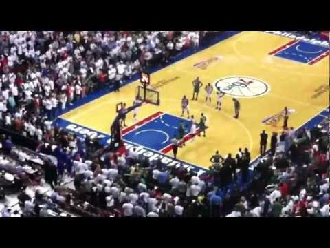 Last minute Sixers vs Celtics Game 4 Playoffs 5/18/12 Wells Fargo Center