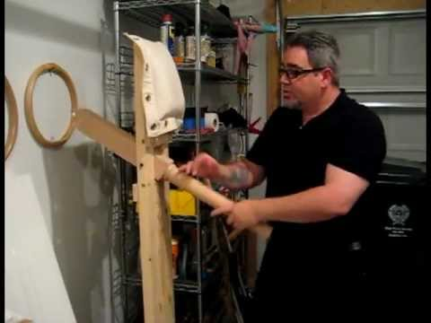 Wing Chun on a Choy Lay Fut Style Wooden Dummy - Kenpo Raining Claw Image 1