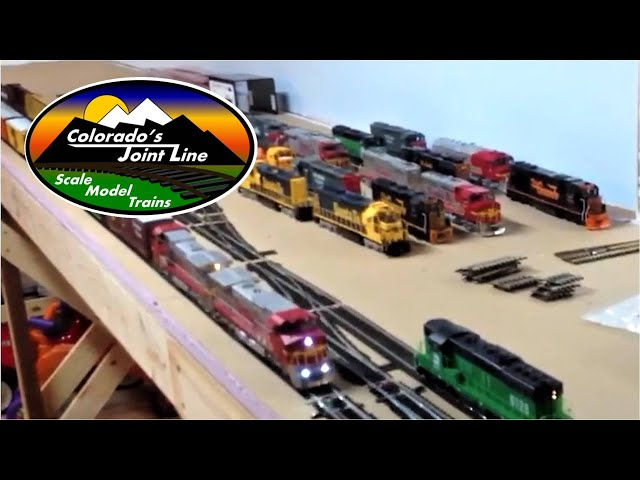 Colorado Joint Line HO Scale Model Train Layout Overview - part 1