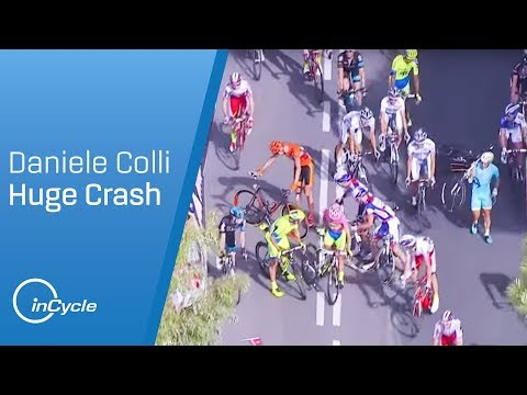 Giro d'Italia 2015: Stage 6 - Daniele Colli crash