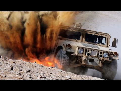 A-10 Warthog Takes Out Humvee Drone