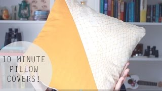 DIY 10 Minute Geometric Pillow Cover Tutorial