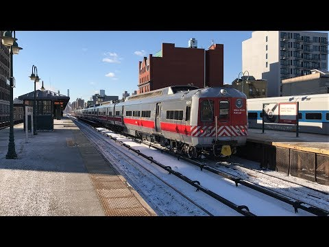 Metro-North Railroad HD 60fps: A Snowy Friday Morning @ Harlem-125th Street (1/5/18)