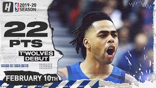 D'Angelo Russell TIMBERWOLVES DEBUT 22 Pts Full Highlights vs Raptors | February 10, 2020