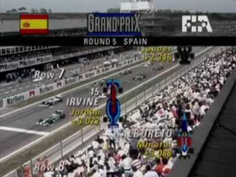 the grid sequence from the bbc highlights of the 1994 spanish grand prix.