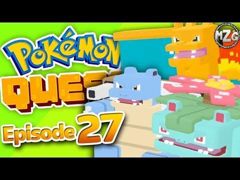All Starter Team! - Pokemon Quest Gameplay Walkthrough - Episode 27- Charizard, Venusaur, Blastoise!