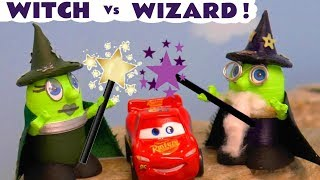Funny Funlings Witch Vs Wizard Funling Magic Challenge with Lightning McQueen and Thomas Train