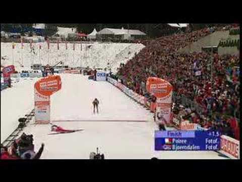Ole Einar Bjørndalen slår Poiree med en halv tåneggel