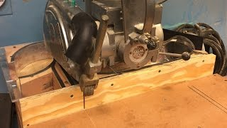 Compact Radial Arm saw Dust collection