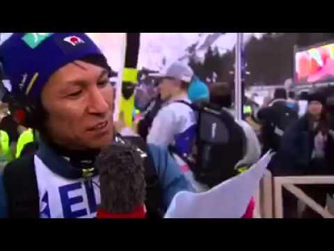 Noriaki Kasai sings Planica Planica !!