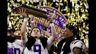 January 13, 2020 - CFP National Championship Game - #3 Clemson vs #1 LSU