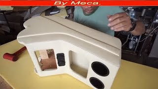Making Center Console Scratch Part 2-2  upholster Auto center console.