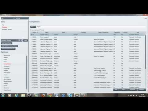 Football Manager 2012 / 2013 / 2014 / 2015 Tutorial: How to use the Editor
