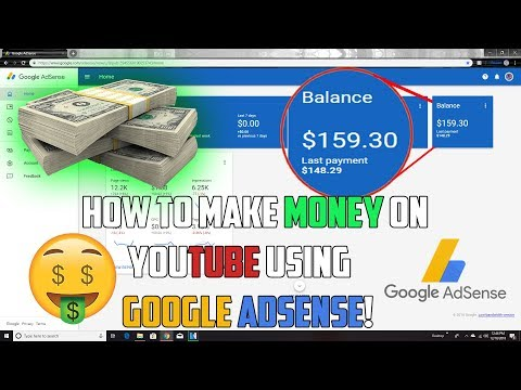 HOW TO MAKE MONEY ON YOUTUBE USING GOOGLE ADSENSE! (FAST AND SIMPLE)