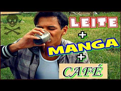 DESAFIO DO LEITE COM MANGA E CAFÉ